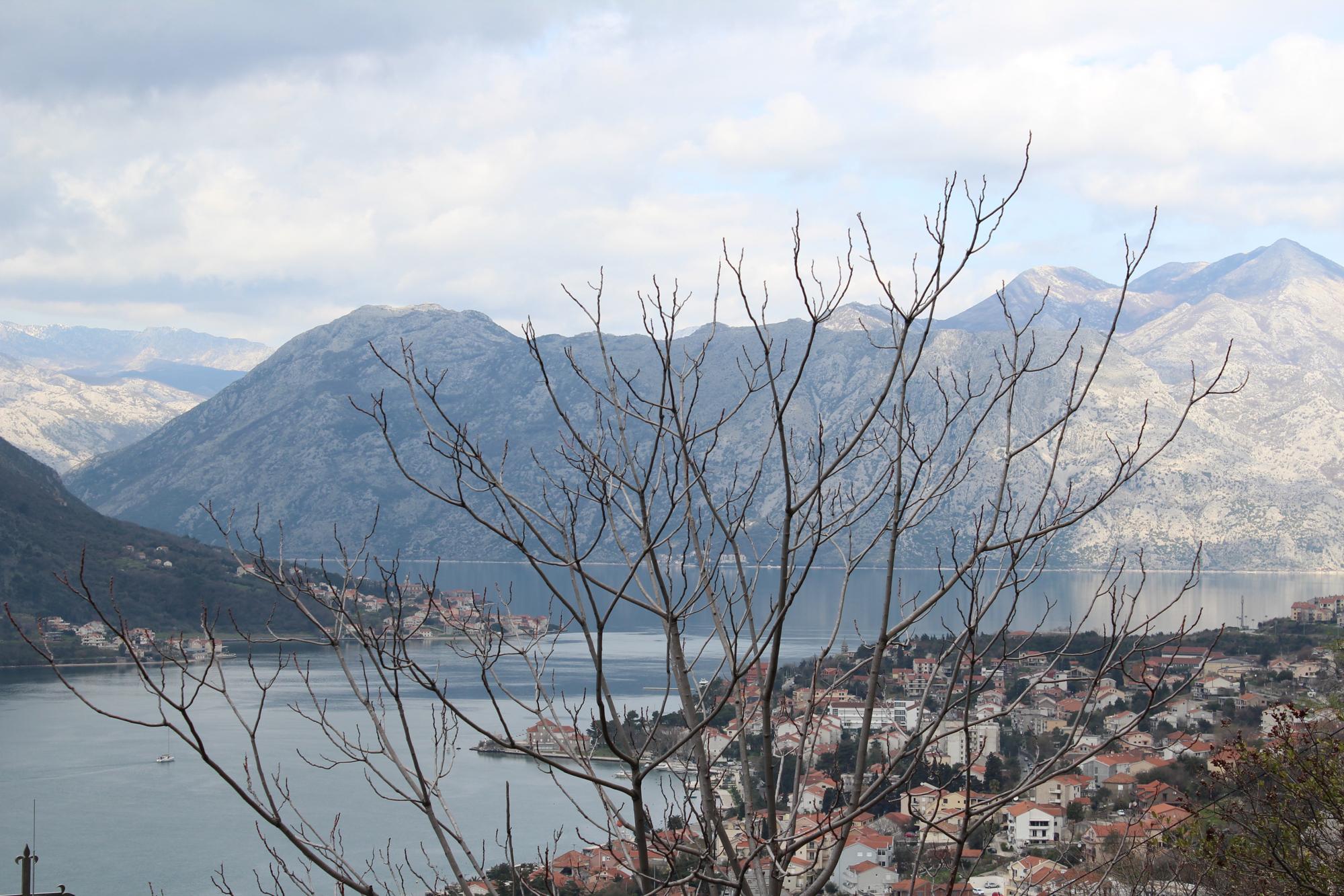 vue sur le fjord de kotor