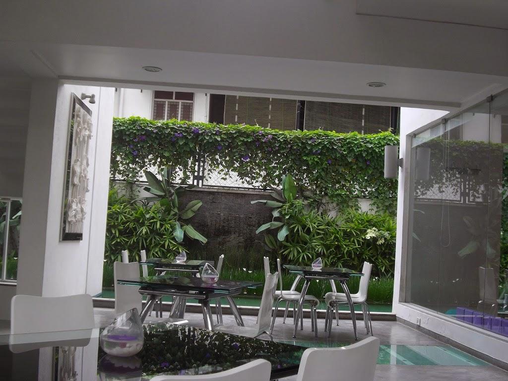 patio de l'hôtel
