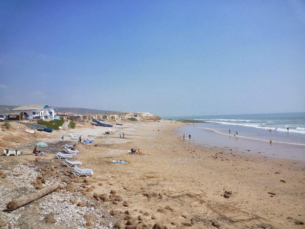 plage à côté de Taghazout