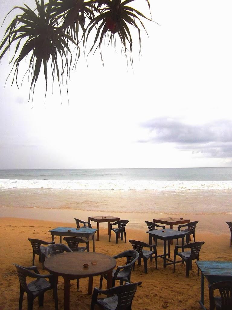sur la plage Mirissa