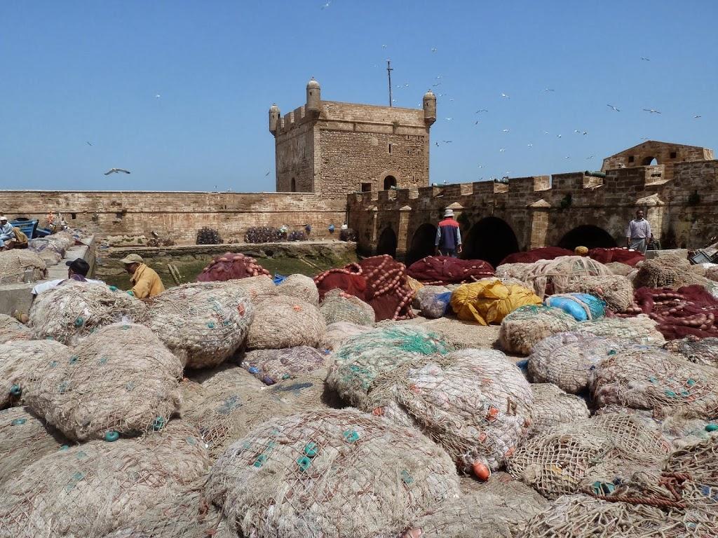 filets de pêcheurs Essaouira
