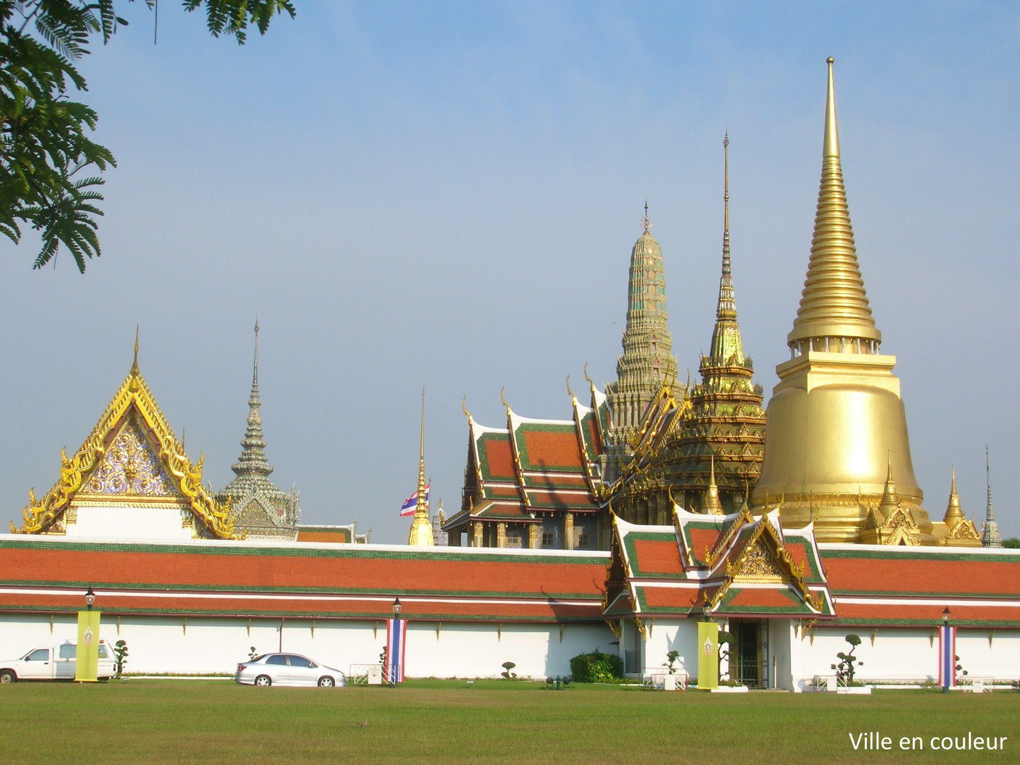 Ville en couleur bangkok thailande