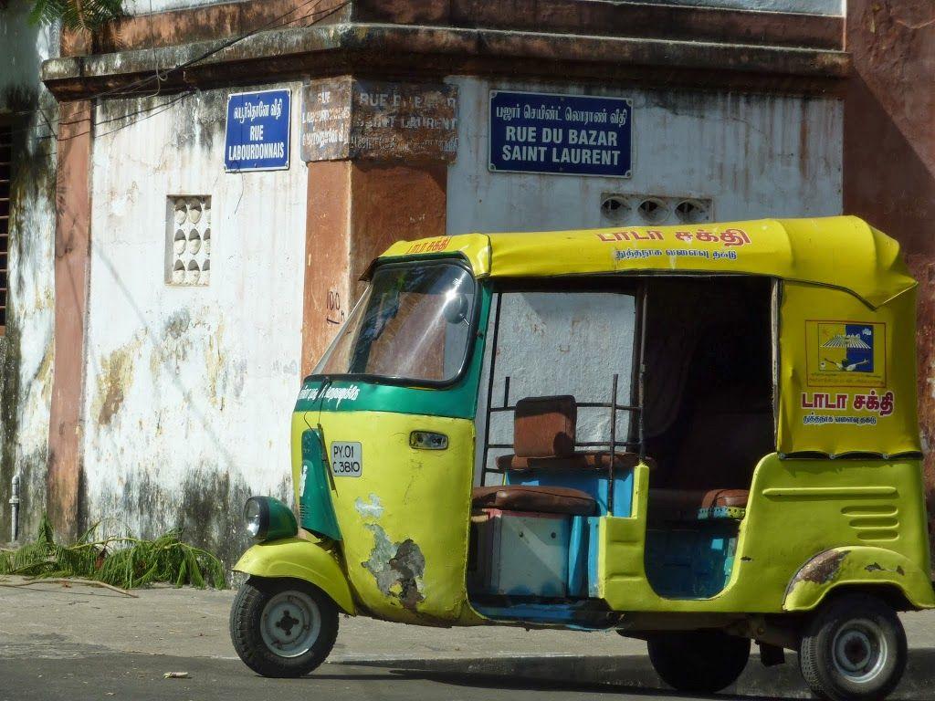 rickshaw à Pondichéry