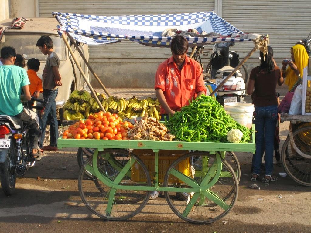 vendeur de rue, Inde