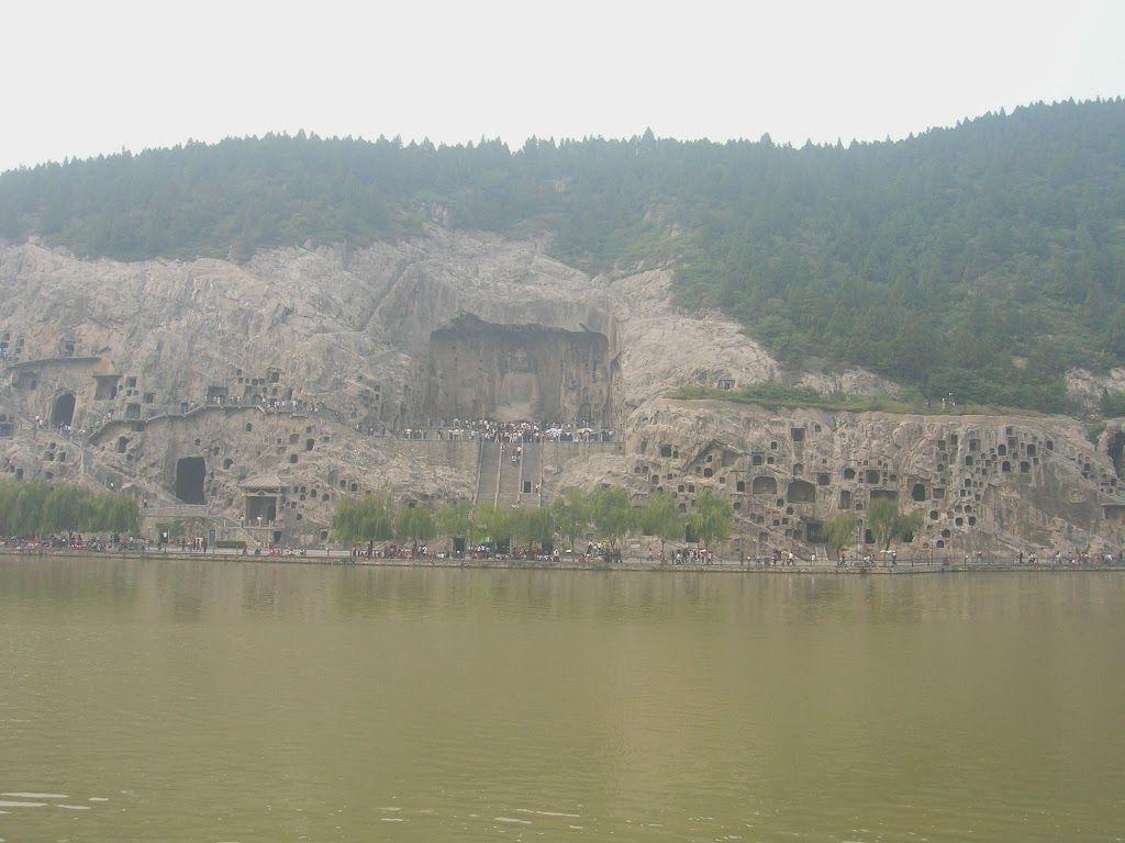 vue sur les grottes de Longmen