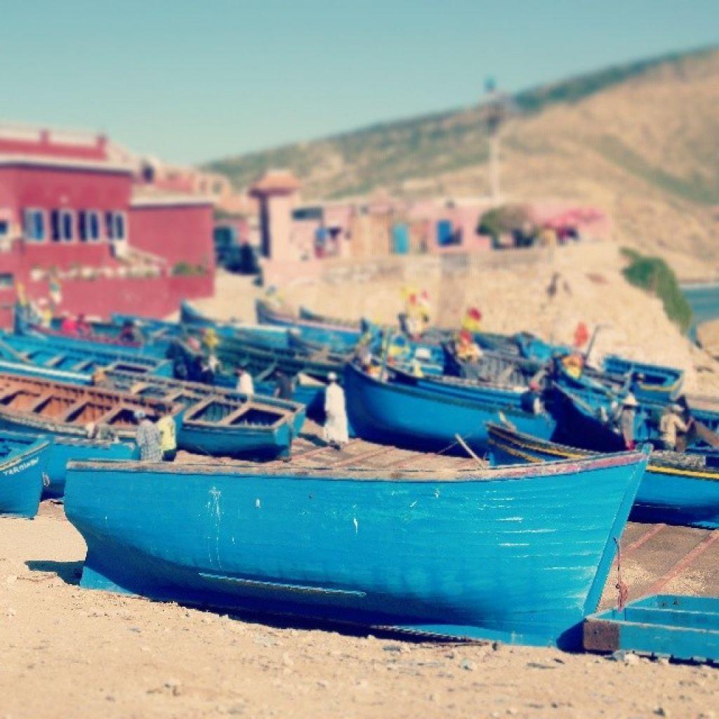 Bateaux de pêcheurs à Imssouane, Maroc