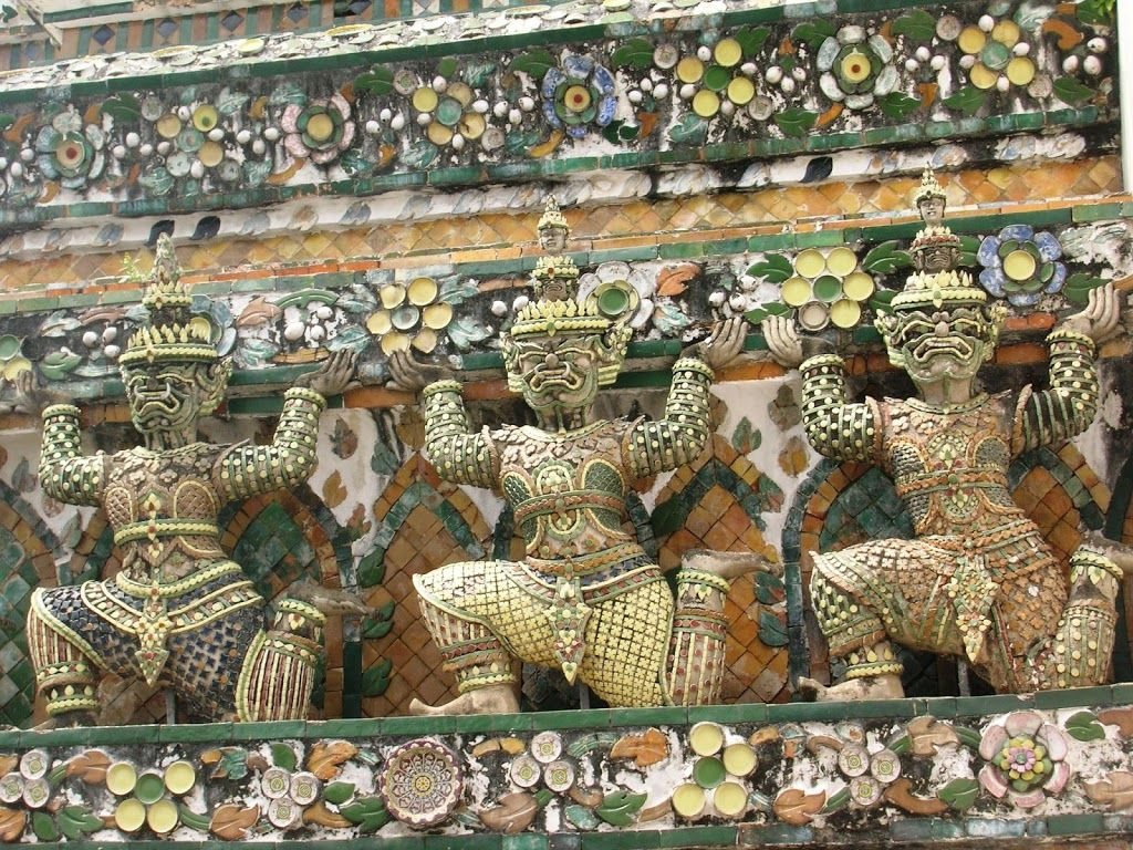 Détails d'un temple thailandais