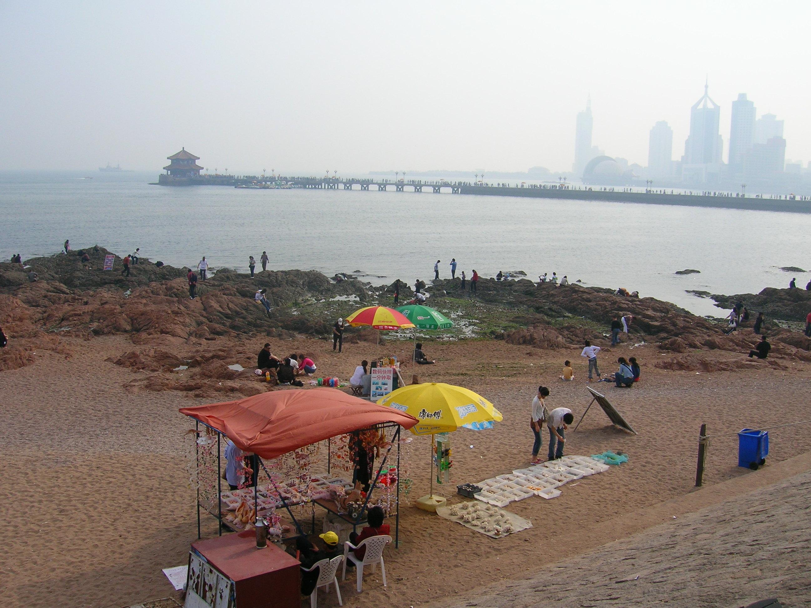 balade sur la côte Qingdao Chine