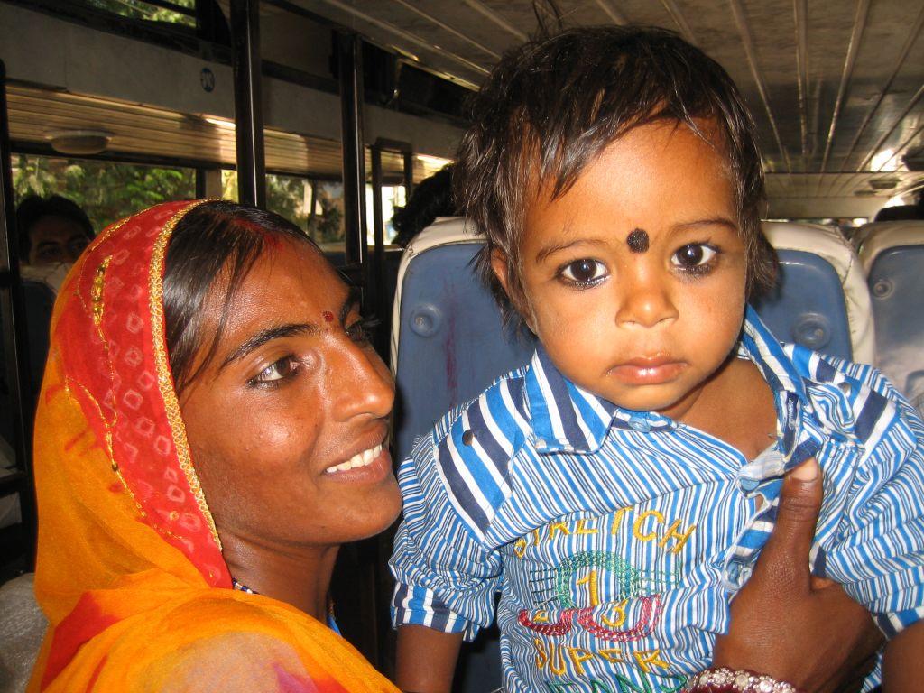 dans le bus Rajasthan Inde