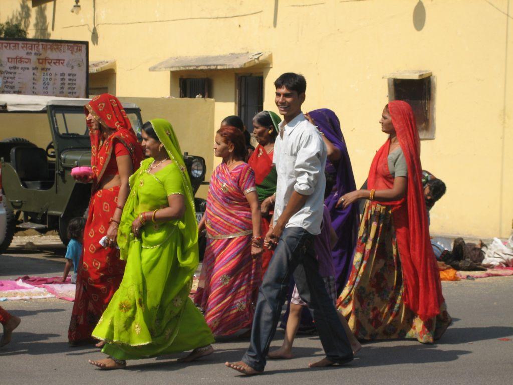 dans la rue Jaipur Inde