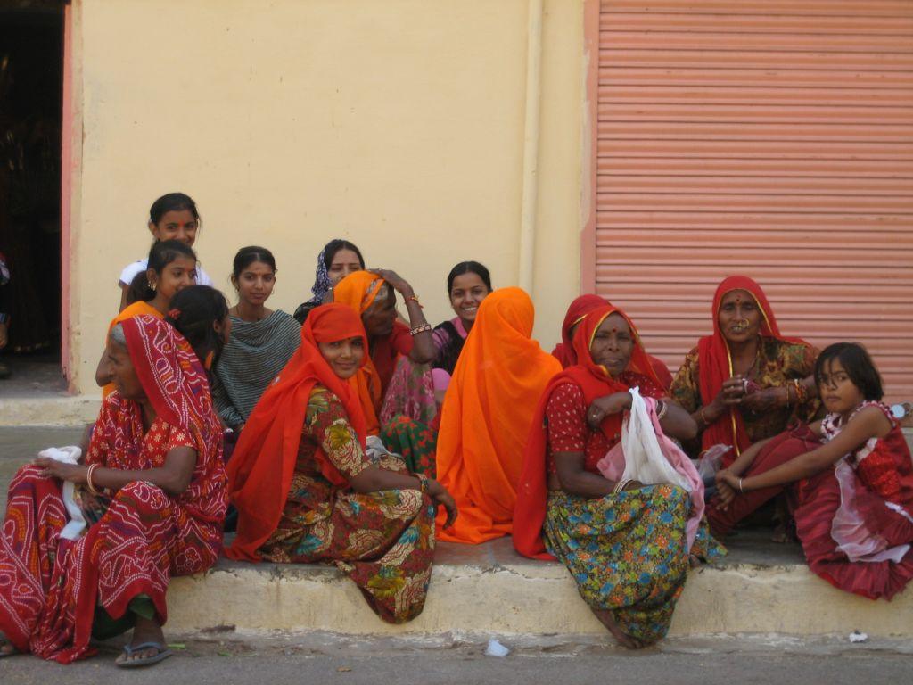 groupe de femmes Rajasthan Inde