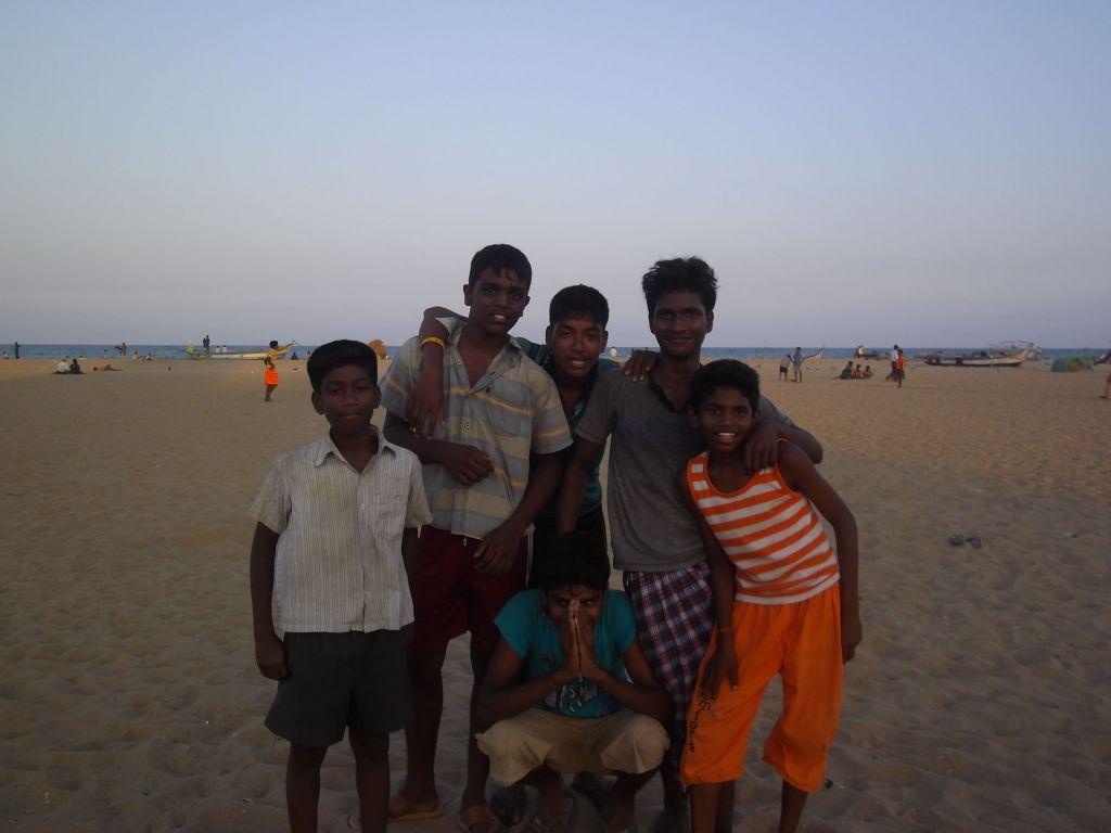 groupe d'amis Marina Beach Chennai