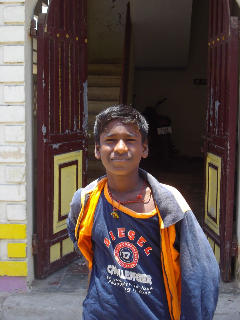 portrait garçon Panayur Inde
